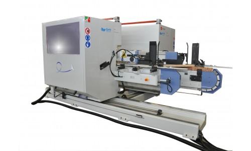 Автоматический универсальный двухсторонний шипорезный станок модели FISHBONE, Италия