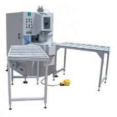 Автоматический станок для зачистки углов ПВХ соединений с двумя валами для наборных фрез RAY P1